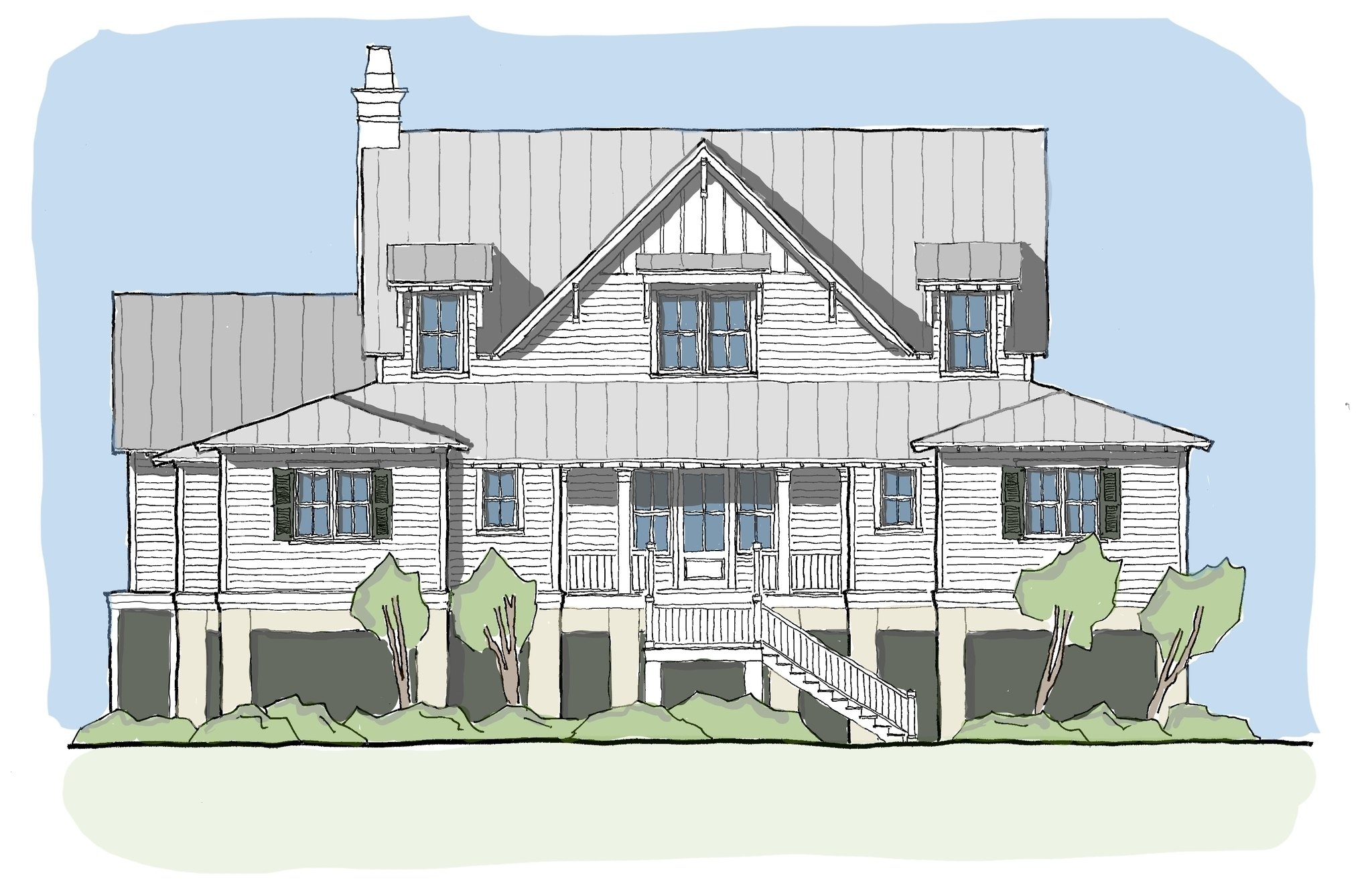 View oriented house plans with porches ibis collection for American house plans designs
