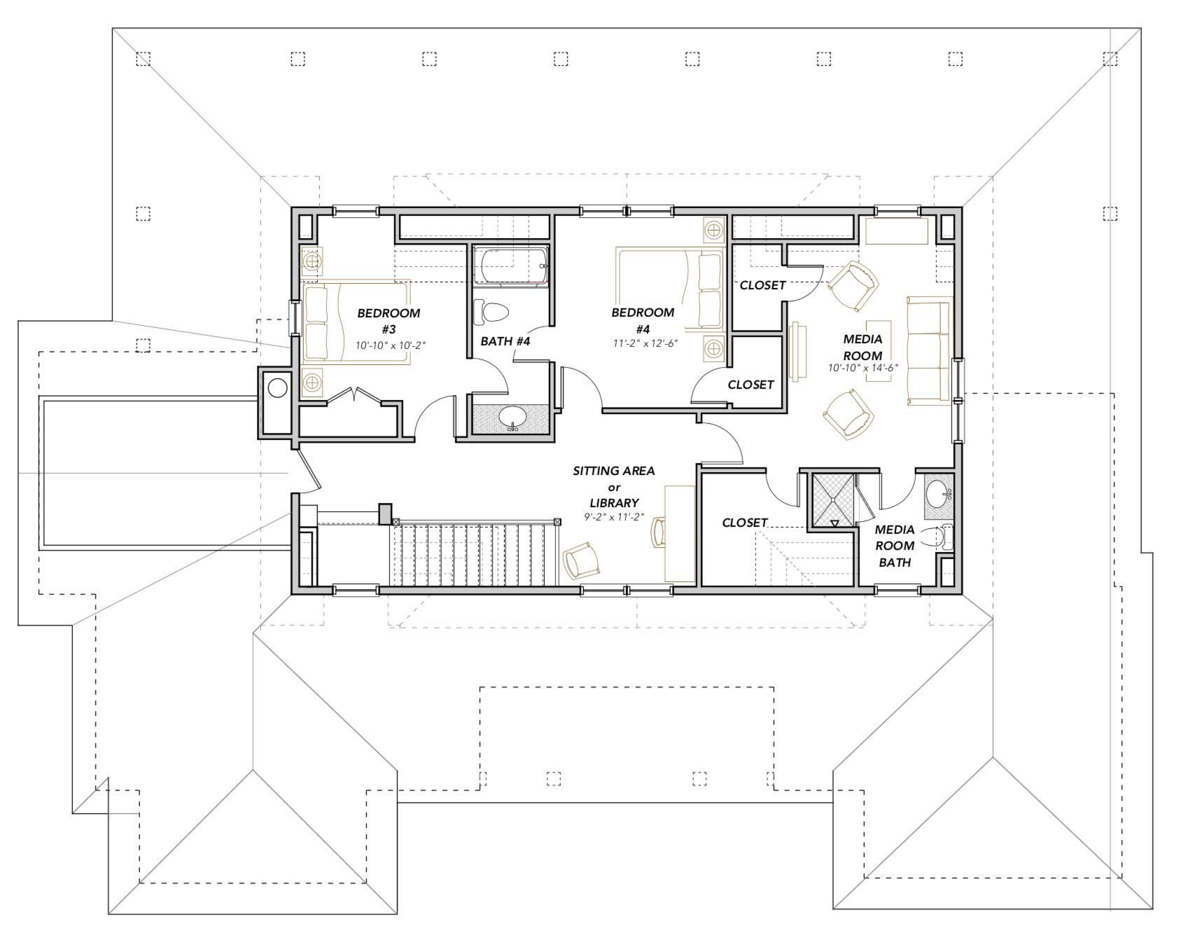 American White Ibis Home Plan — Flatfish Island Designs ... on mill creek floor plans, community architecture, community bathroom floor plans,