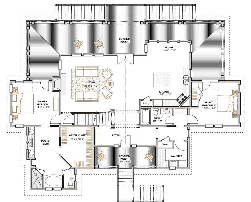 Crested Ibis Home Plan — Flatfish Island Designs — Coastal ... on mill creek floor plans, community architecture, community bathroom floor plans,