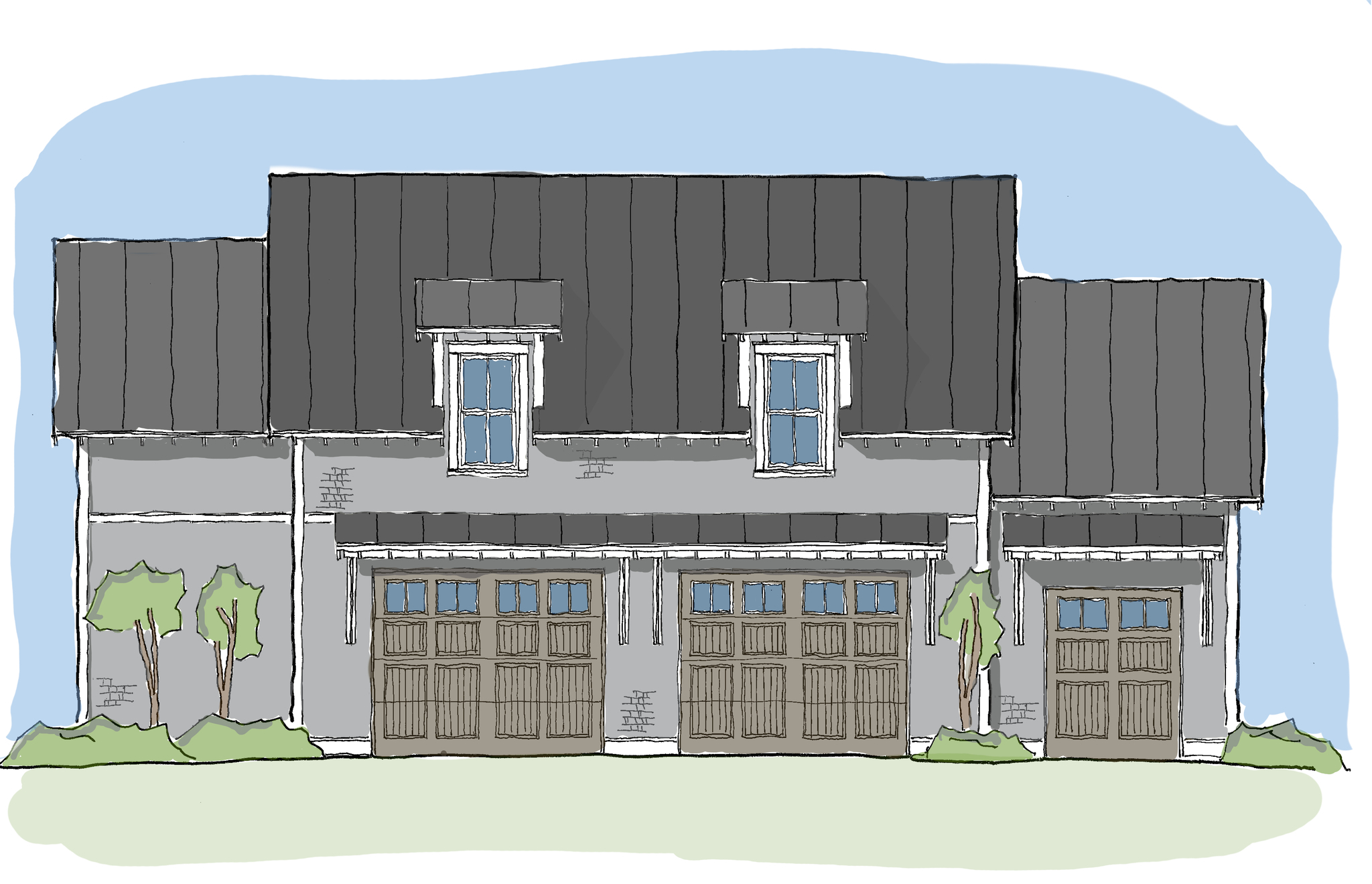 Coastal plans with extra living spaces garage collection for Little island design
