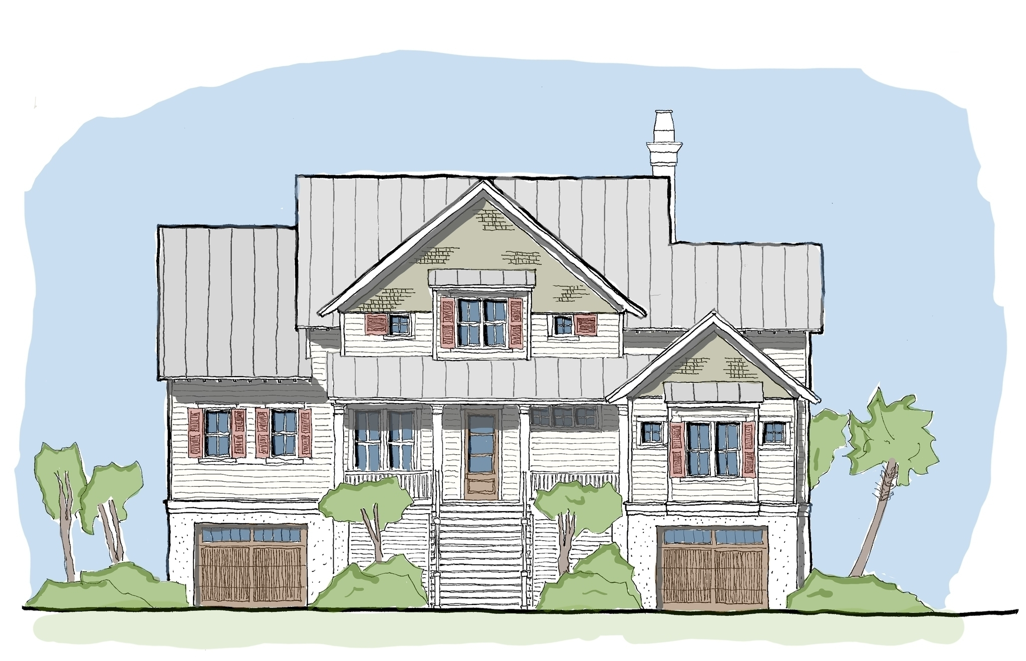 Stono Tide — Flatfish Island Designs — Coastal Home Plans