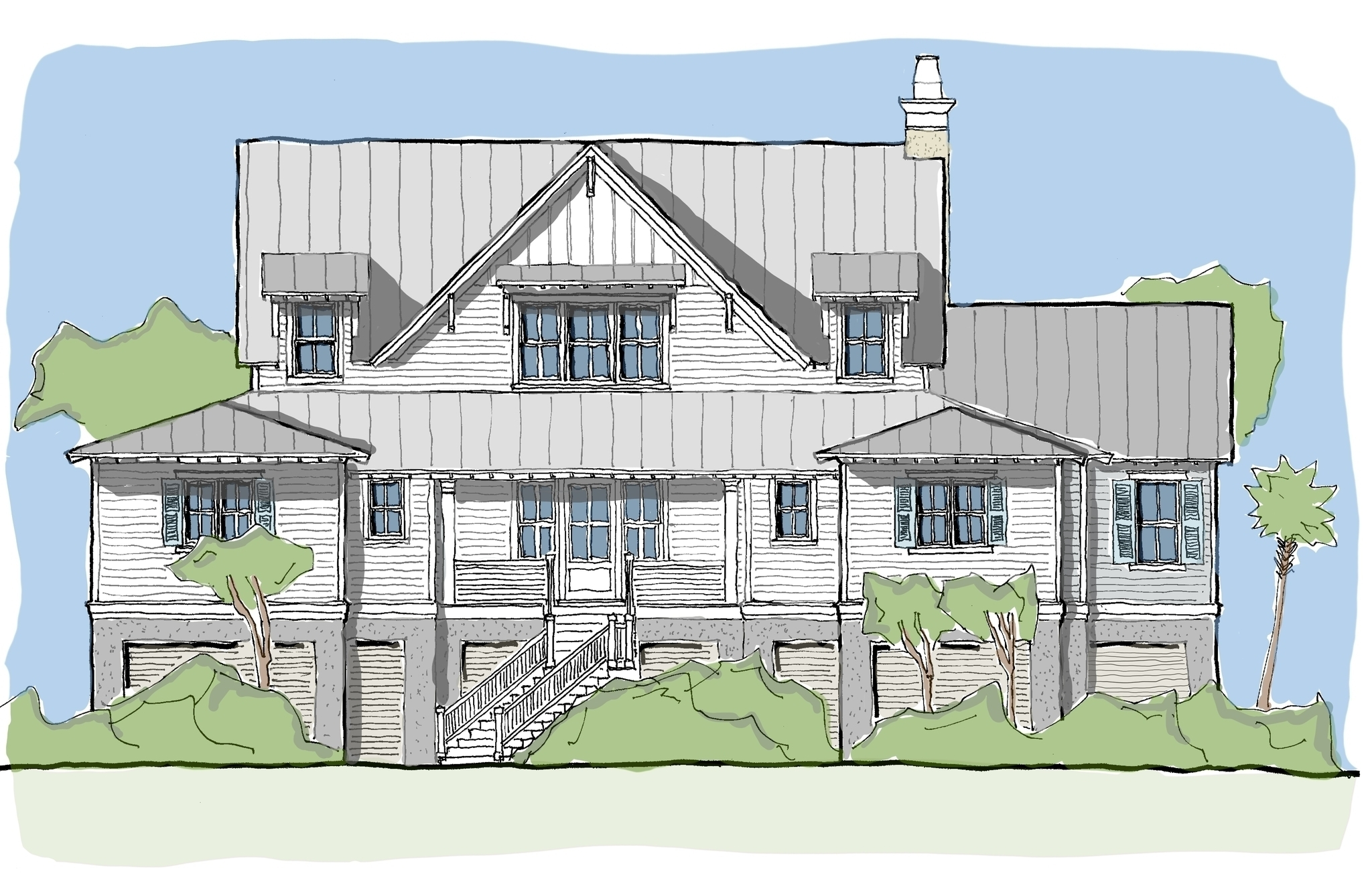 View Oriented House Plans with Porches - Ibis Collection — Flatfish ...