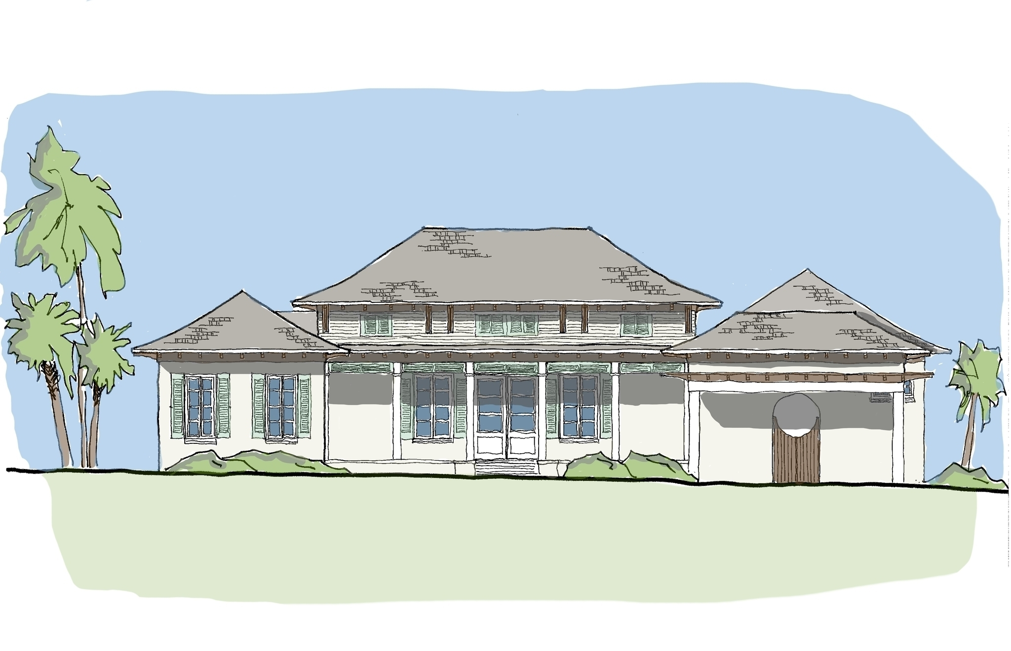 1 story plans with courtyard villa collection flatfish for One story house plans with courtyard