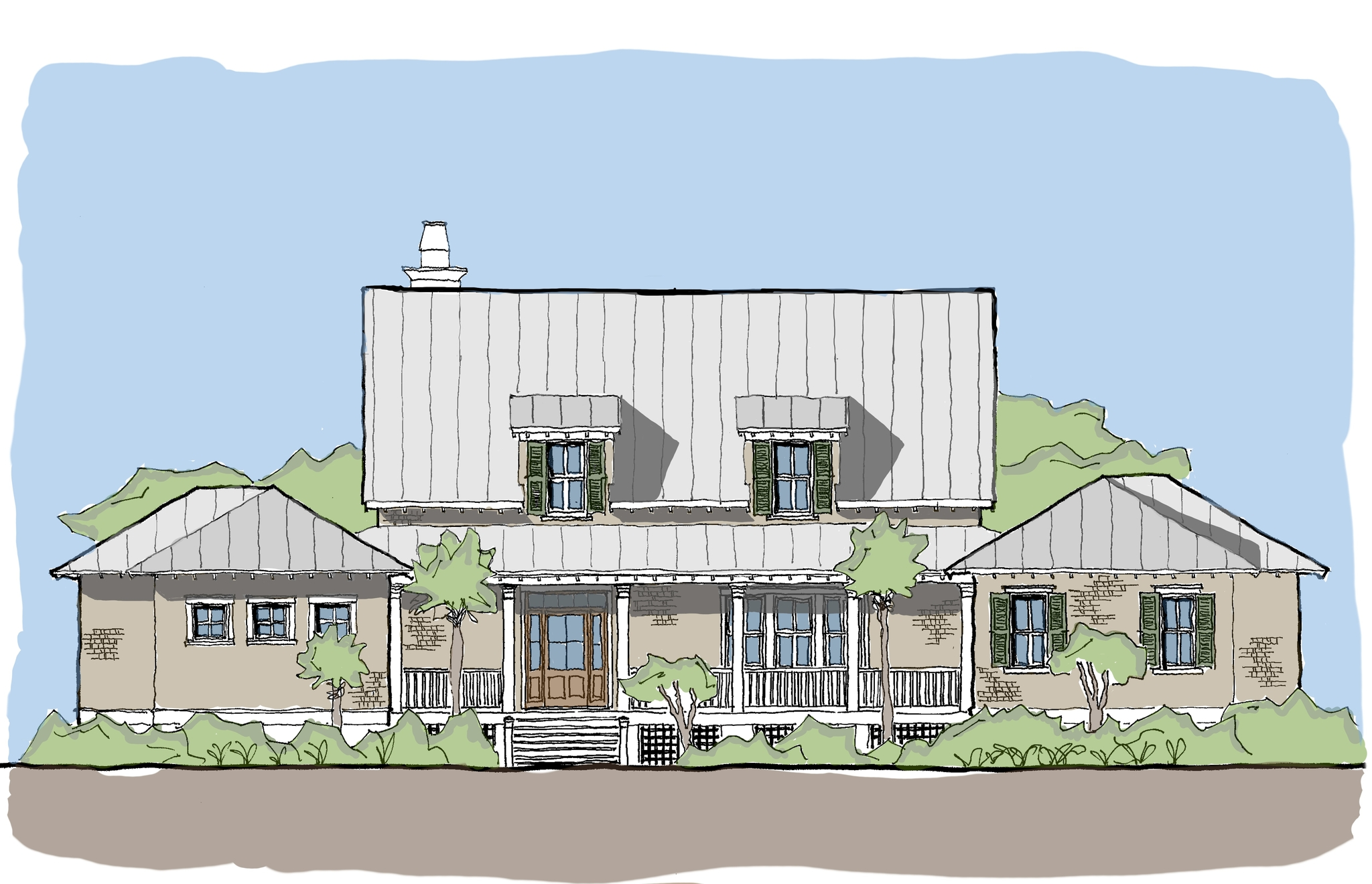 saltwater rest u2014 flatfish island designs u2014 coastal home plans