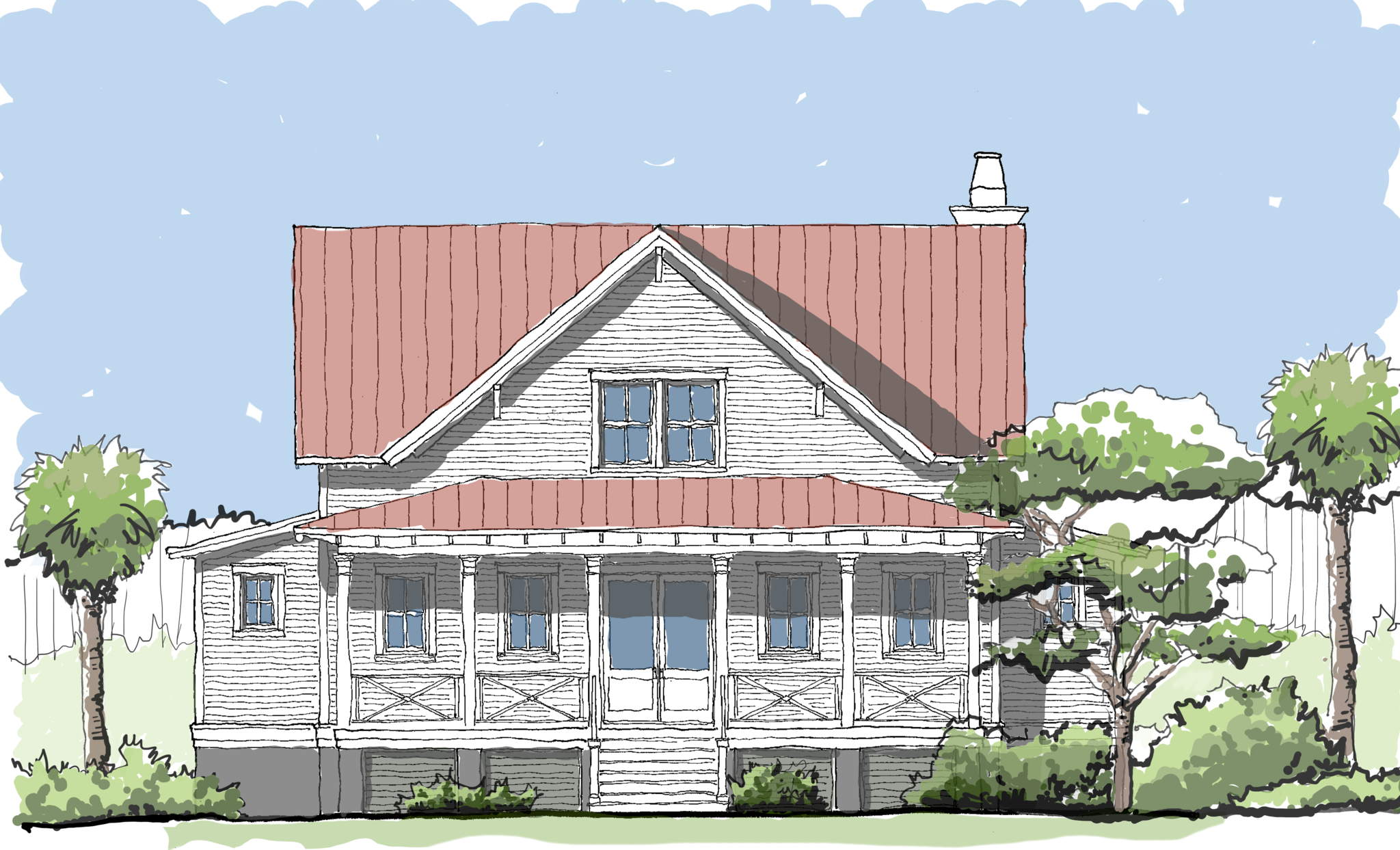 Compass Cove Flatfish Island Designs Coastal Home Plans