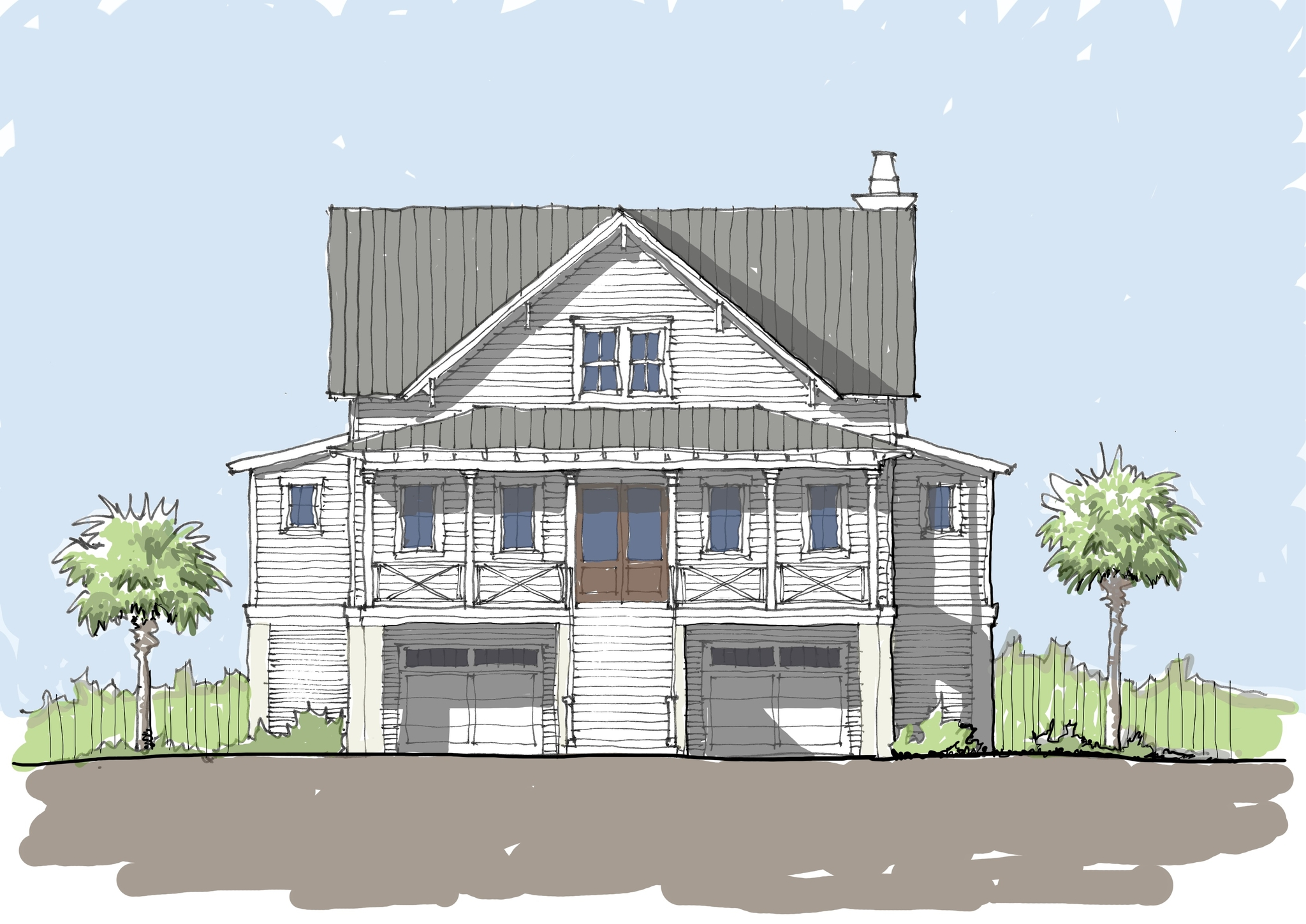 Dunes Cove Flatfish Island Designs Coastal Home Plans