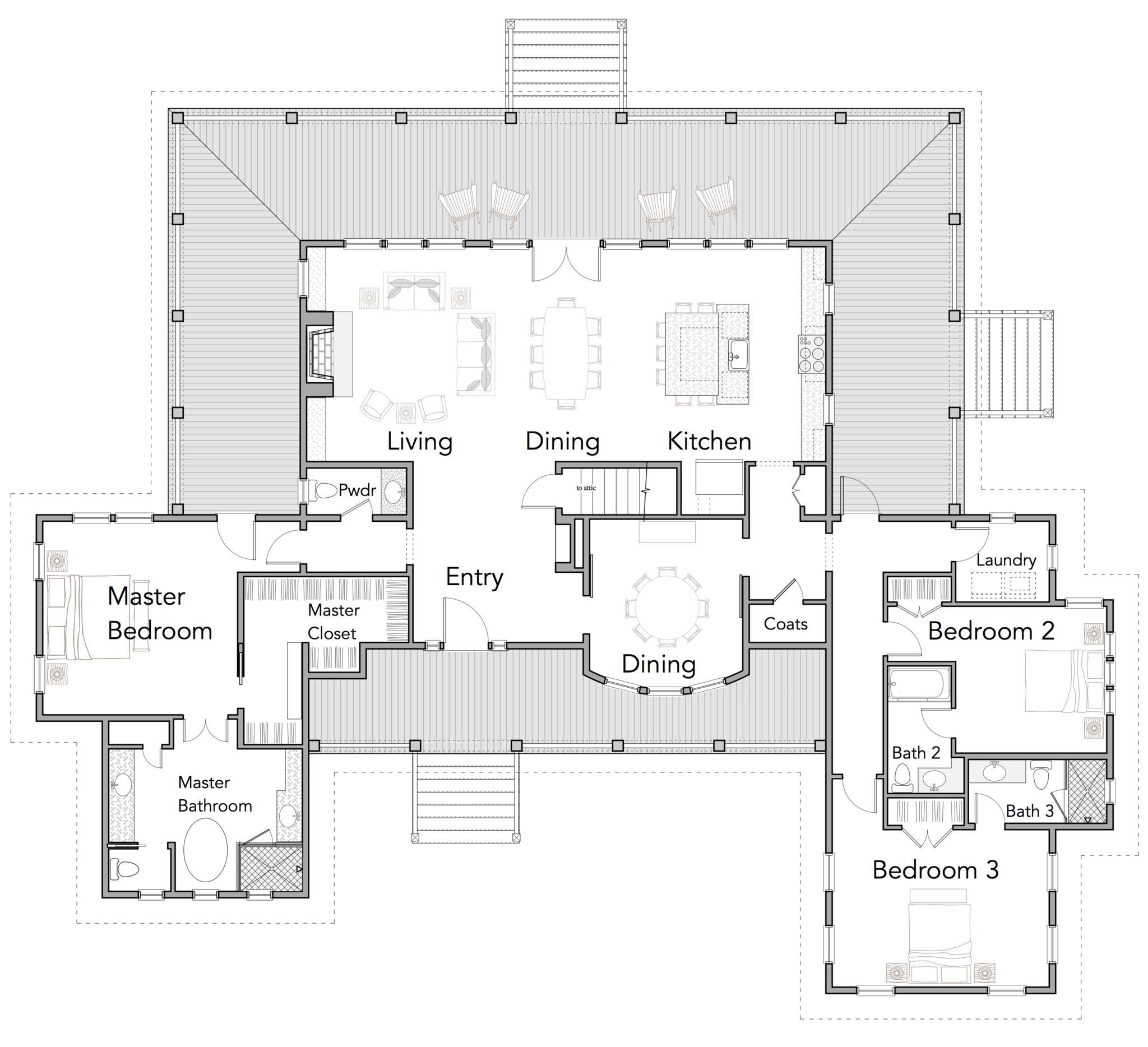 Coastal home floor plans gurus floor for Coastal ranch house plans