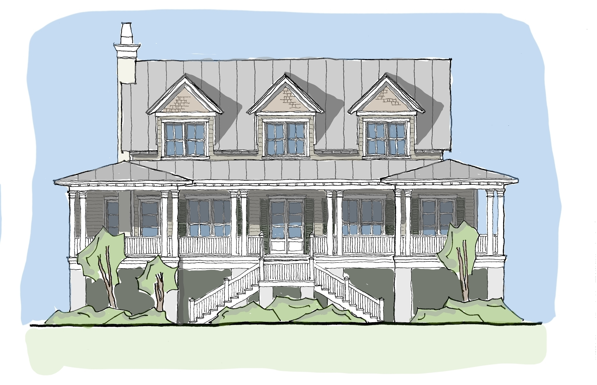 Carolina kite flatfish island designs coastal home plans for Coastal carolina home plans