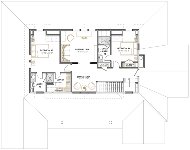 Wattled Ibis Home Plan — Flatfish Island Designs — Coastal ... on mill creek floor plans, community architecture, community bathroom floor plans,